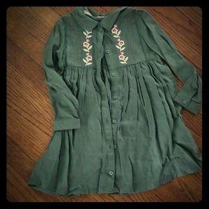 Beautiful Long Sleeve Toddler Girls Dress